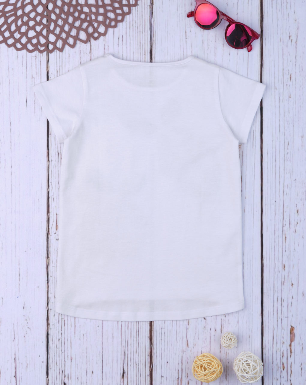 "T-shirt paillettes reversibili ""lemon&orange"" - Prénatal"