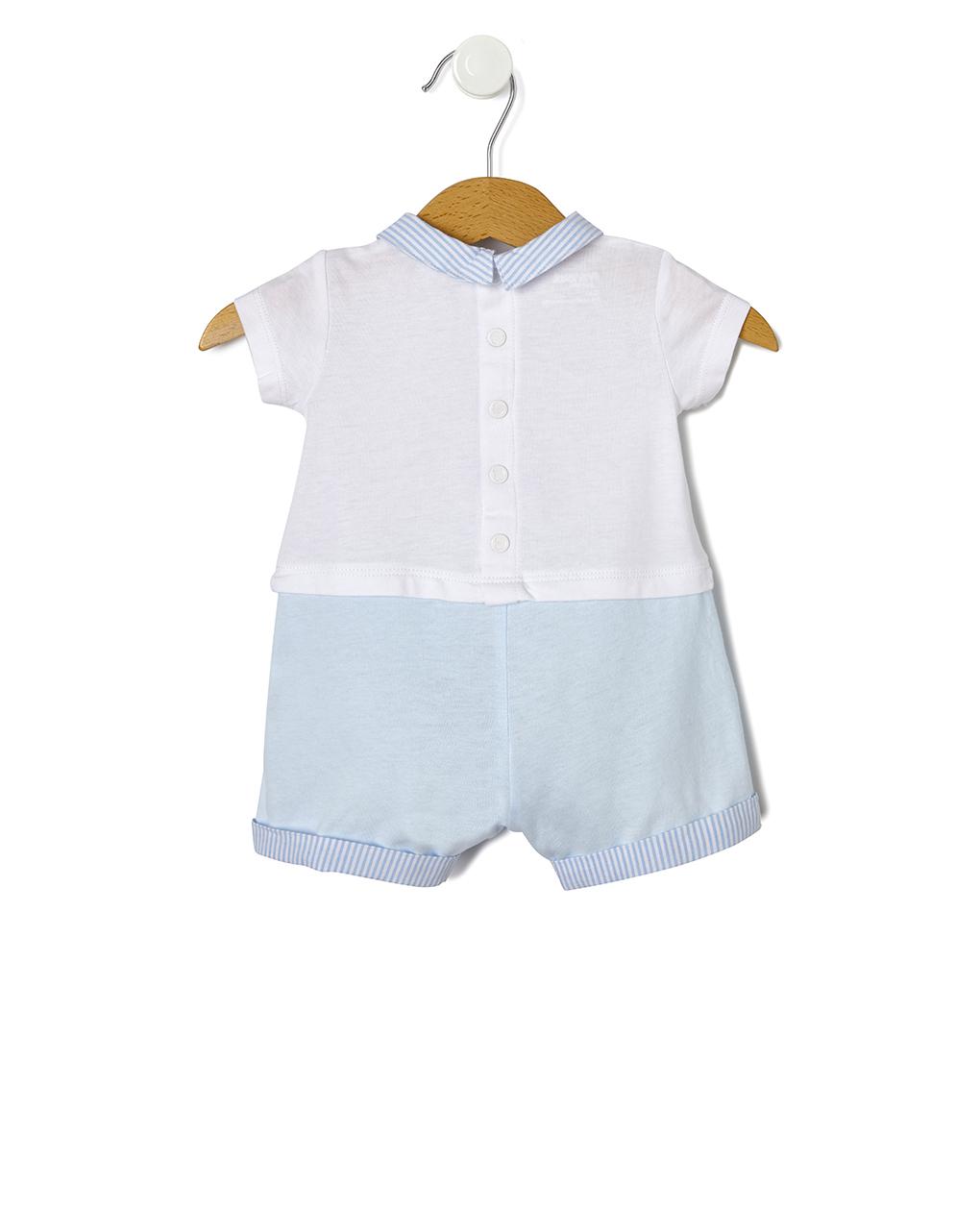 Tutina in jersey con patch animaletti - Prénatal