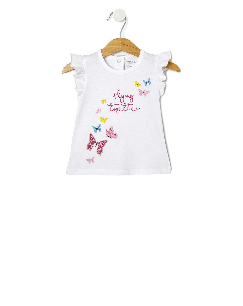 T-shirt mezza manica con stampa farfalle - Prénatal