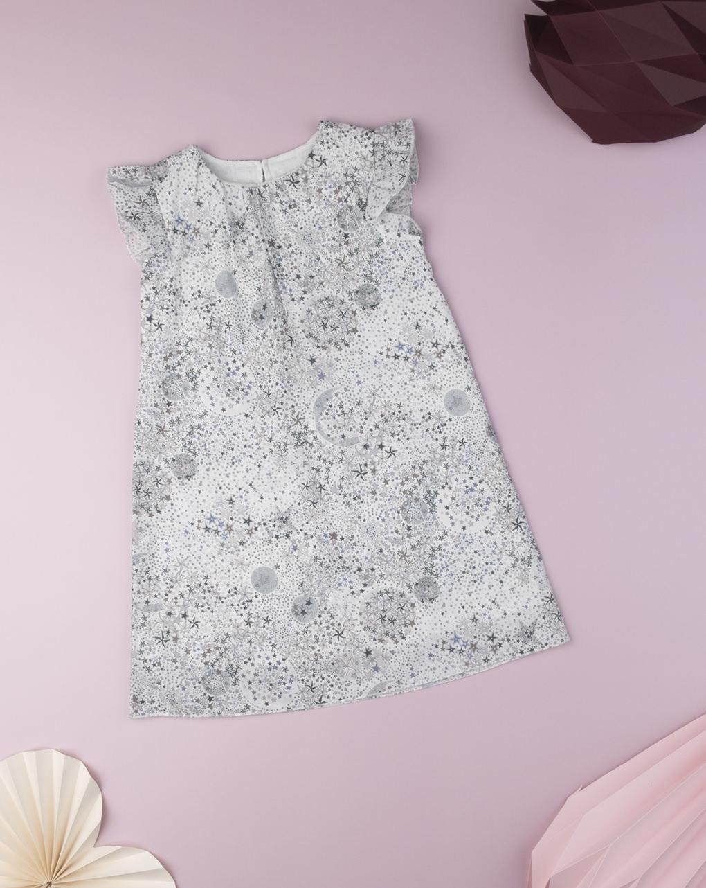 """Vestito kid girl """"stelle"""" black & white in tessuto liberty - Prénatal"""