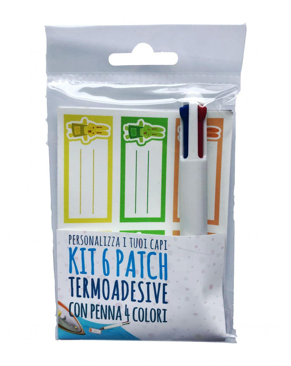 Kit etichette termoadesive marcabiancheria e penna 4 colori - AREA BUSINESS