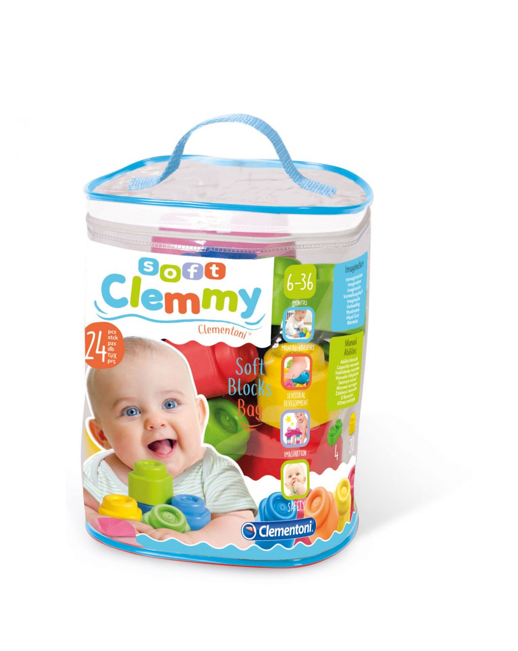 Clemmy - sacca 24 mattoncini - Clementoni