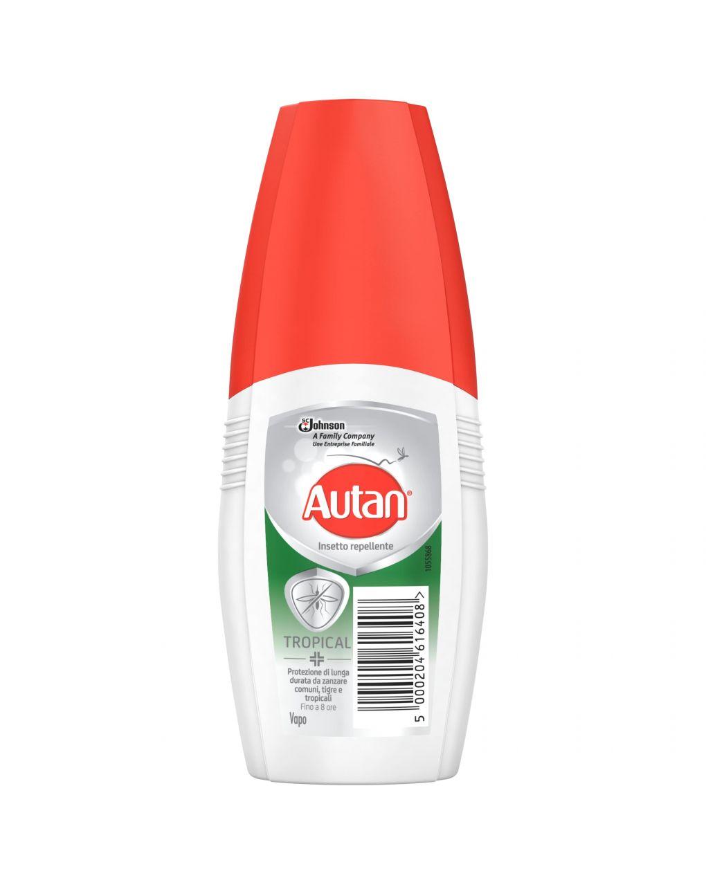 Autan tropical vapo insetto repellente e antizanzare comuni e tropicali, 100ml - Autan