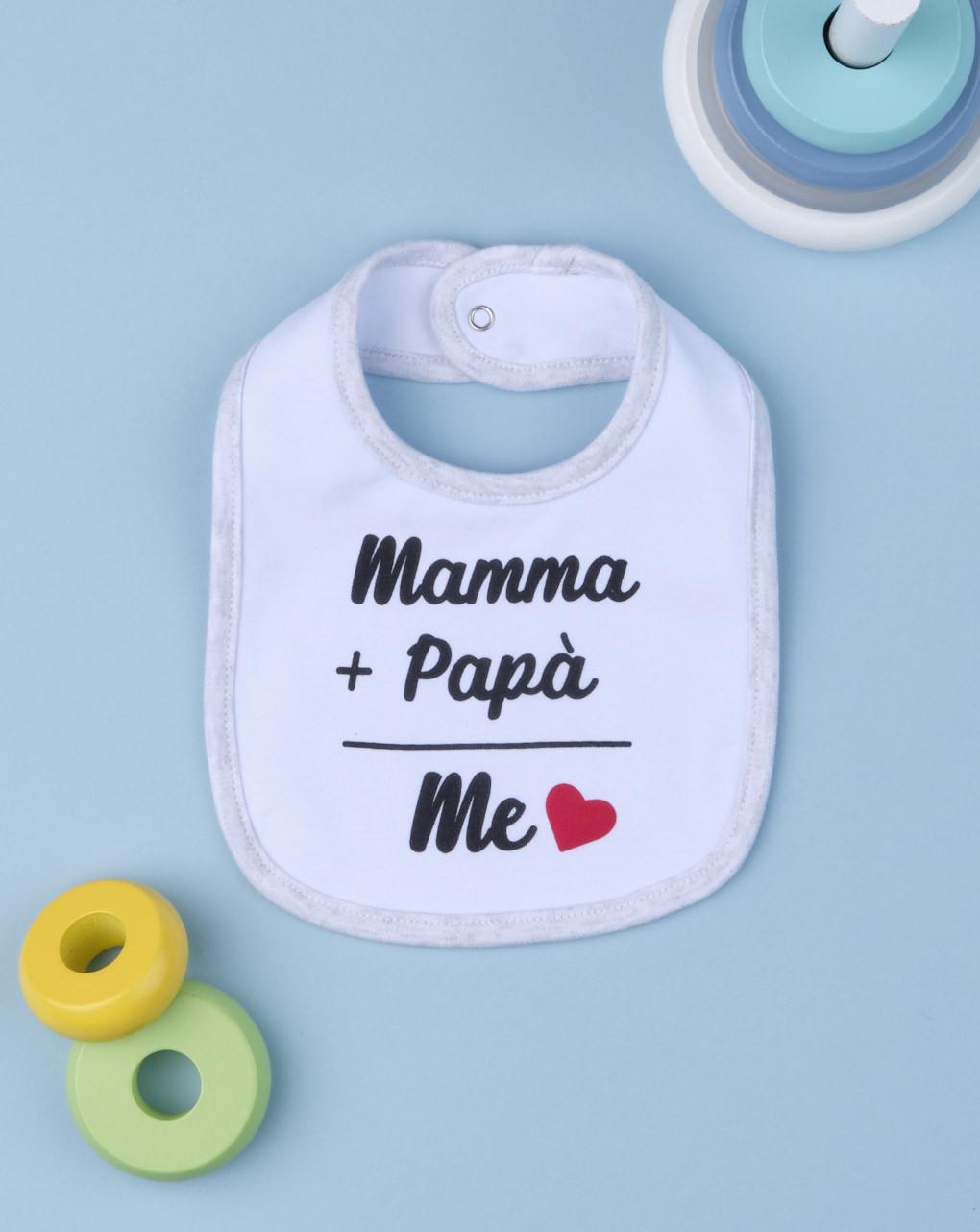 "Bavaglino boy ""mamma & papà"" - Prénatal"