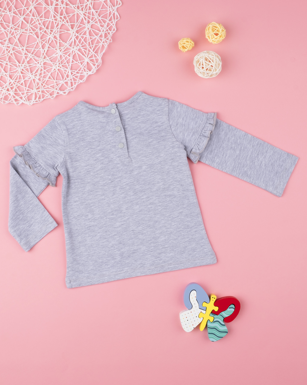 "T-shirt girl ""hello baby"" - Prénatal"