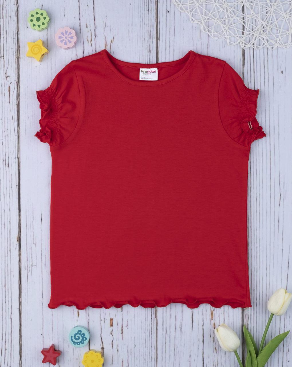T-shirt girl total red - Prénatal