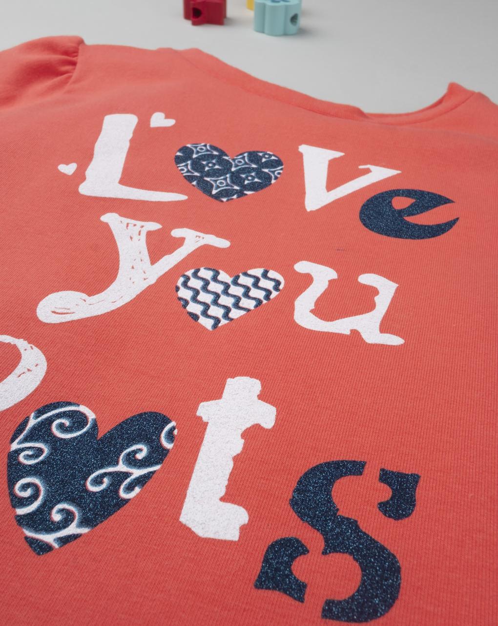 "Felpa girl ""love you lots"" - Prénatal"