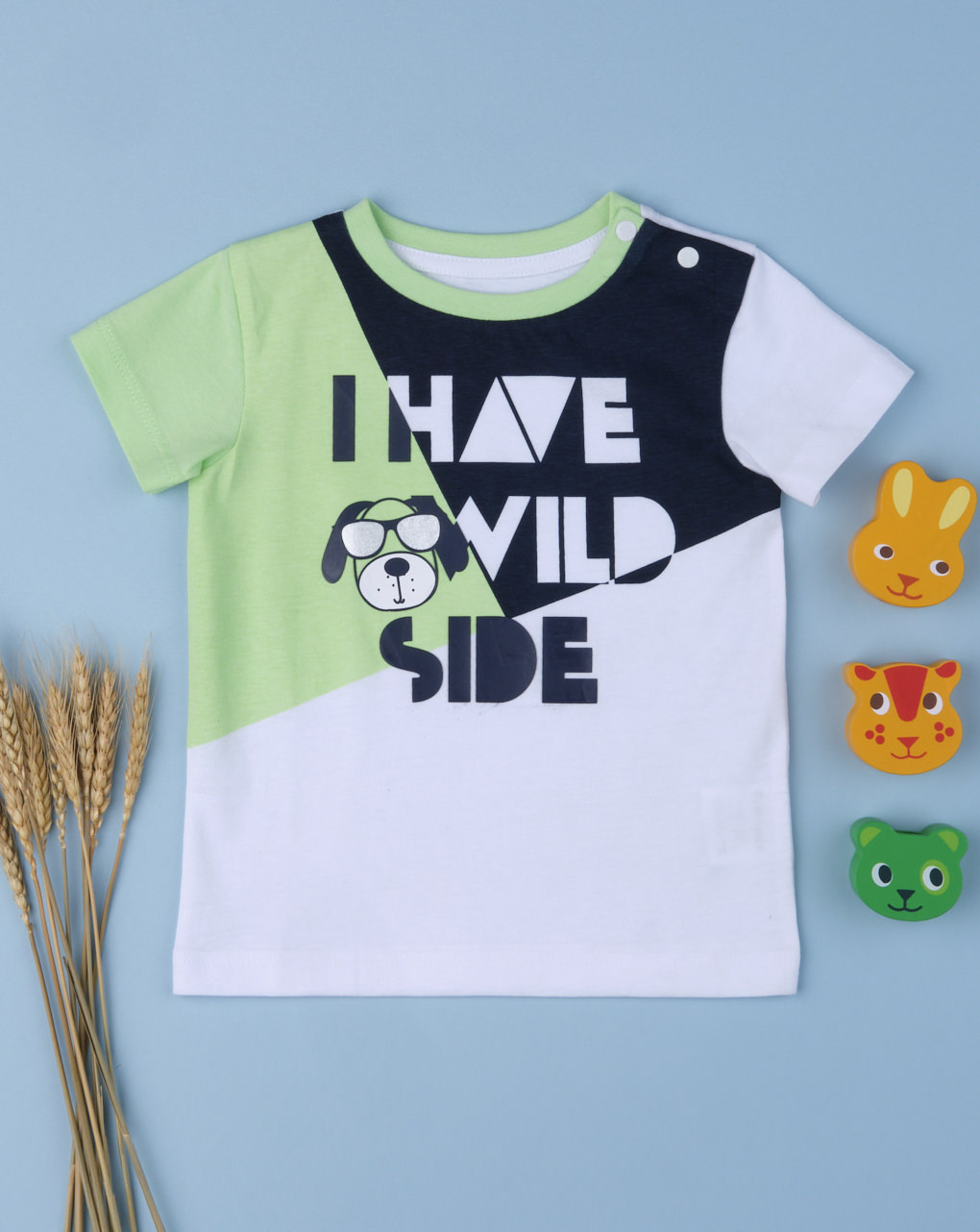 "T-shirt boy ""i have wild side"" - Prénatal"