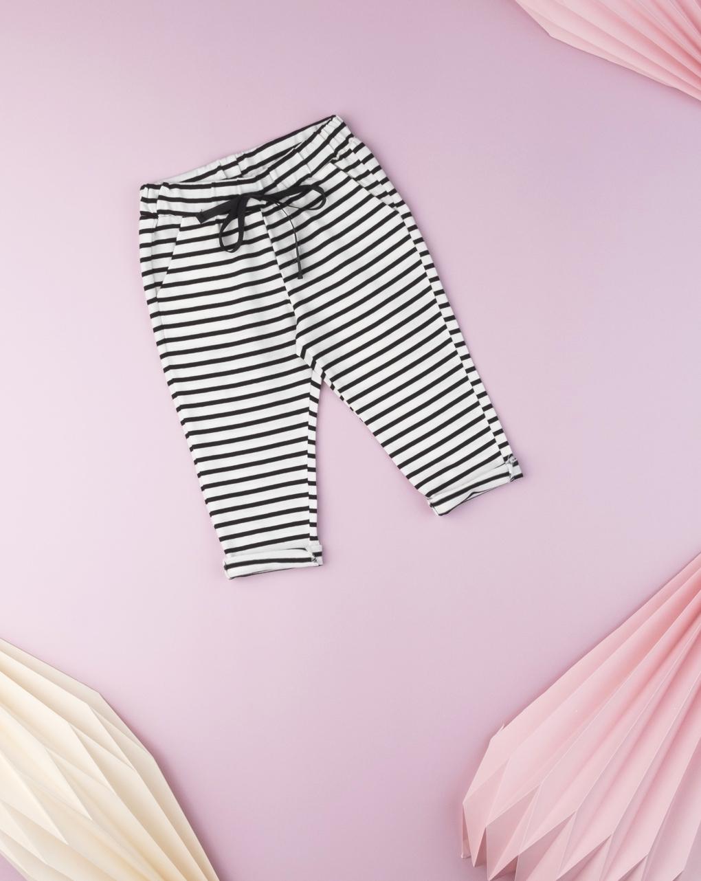 Pantalone jersey rigato baby girl - Prénatal