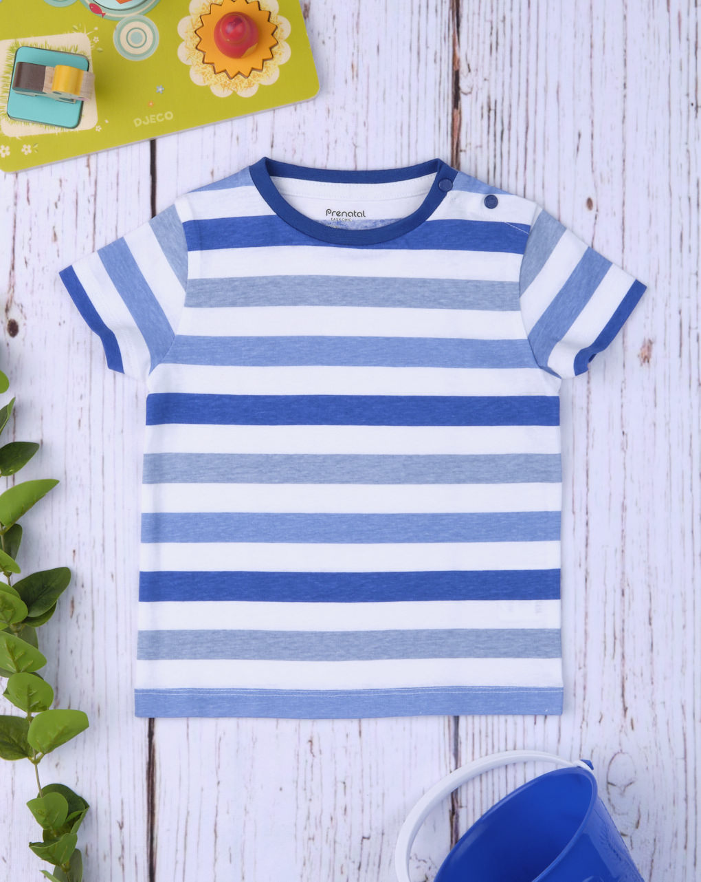 "T-shirt boy ""blu & grigio"" - Prénatal"