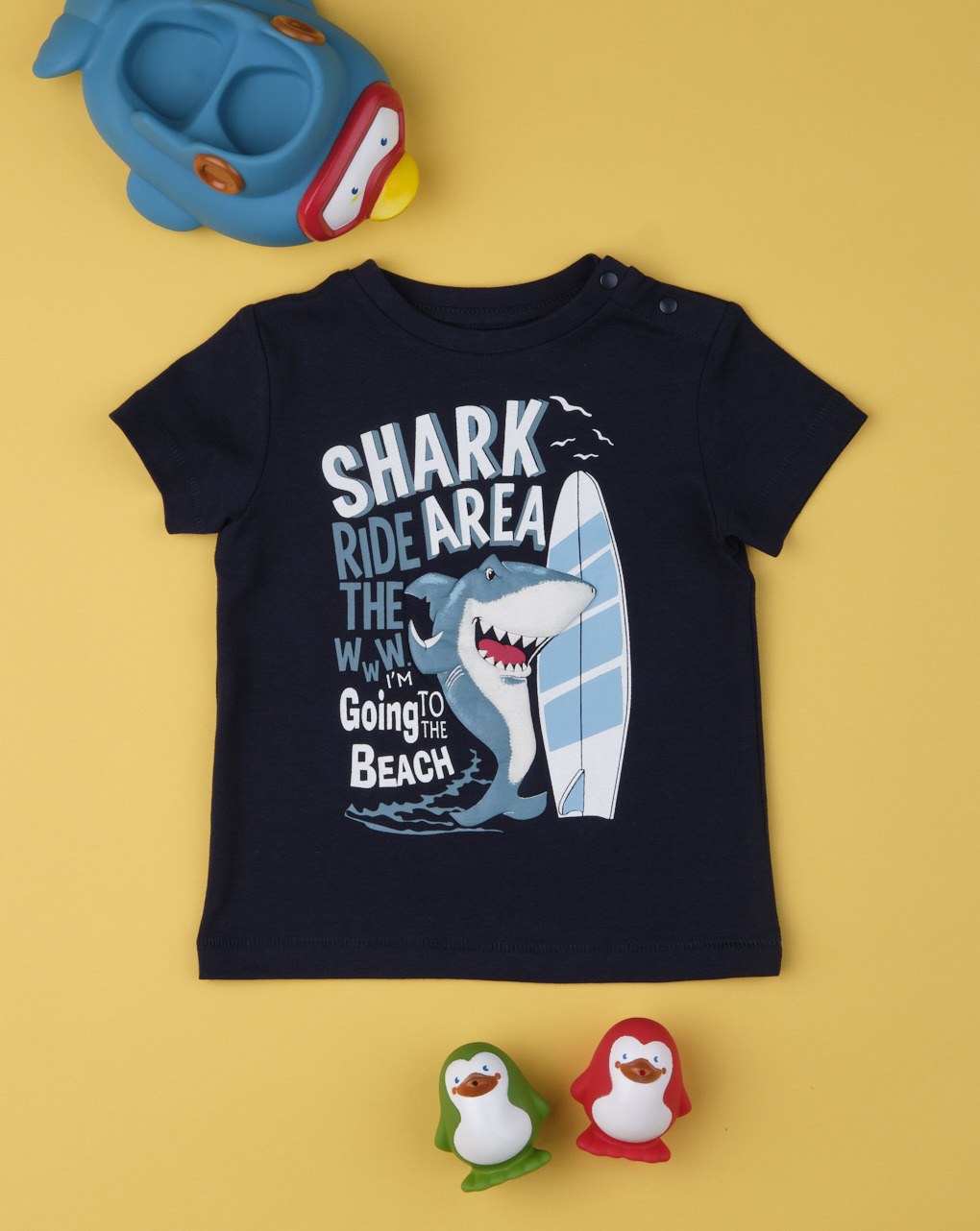 "T-shirt boy ""shark area"" - Prénatal"