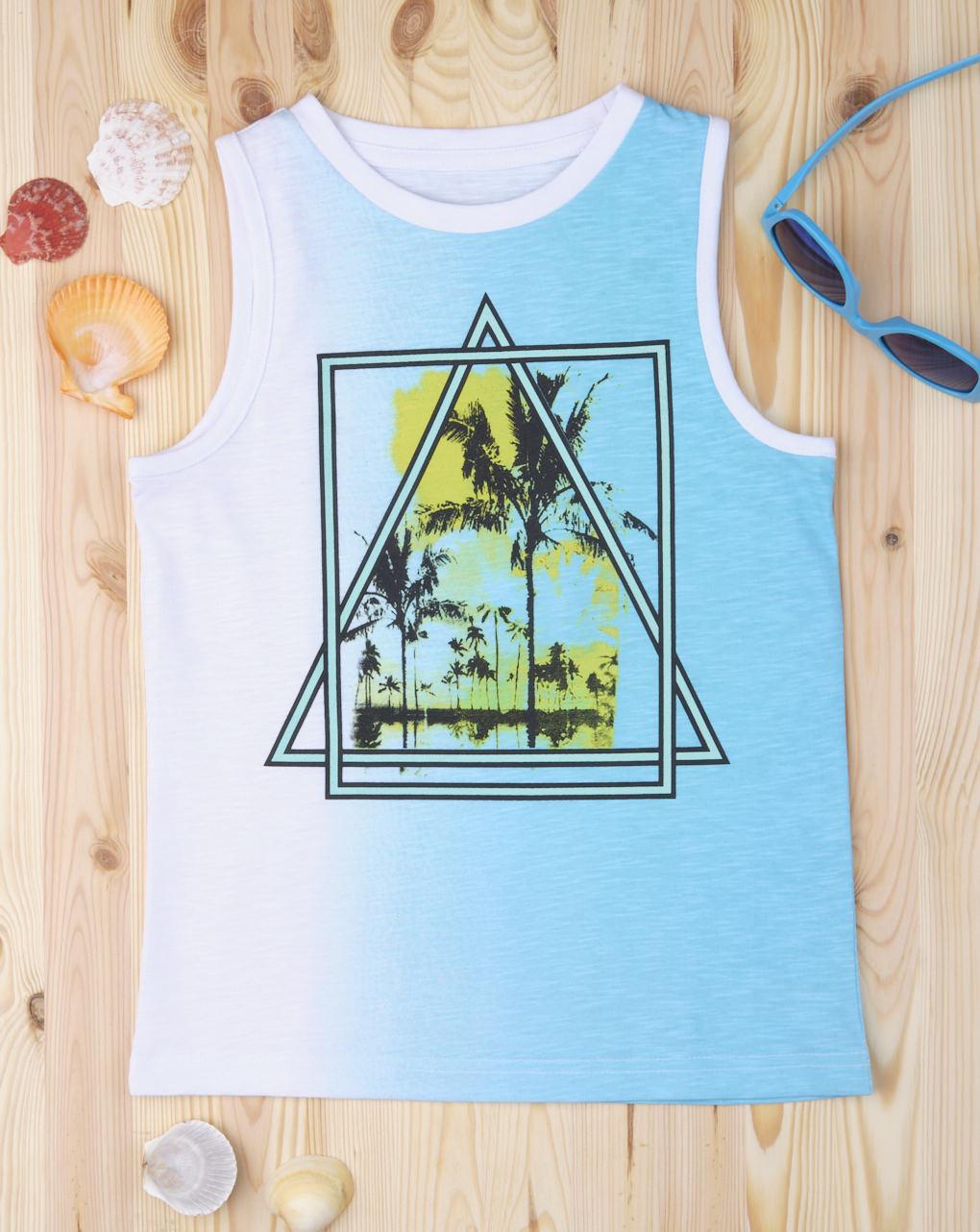 "Canotta ""triangular"" azzurra - Prénatal"