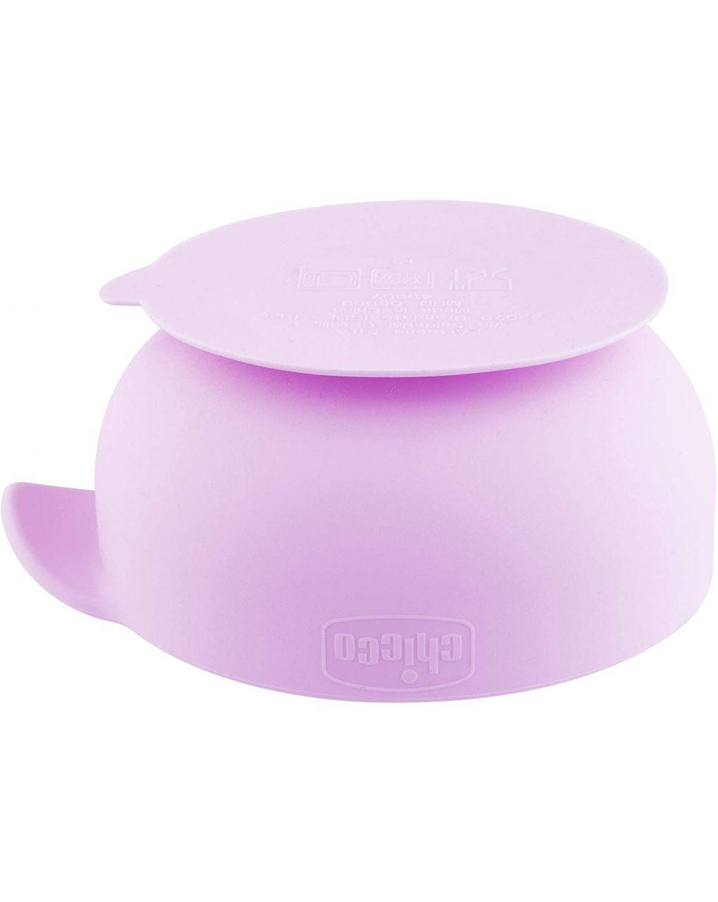 Ciotola silicone con ventosa 6m+ rosa - Chicco