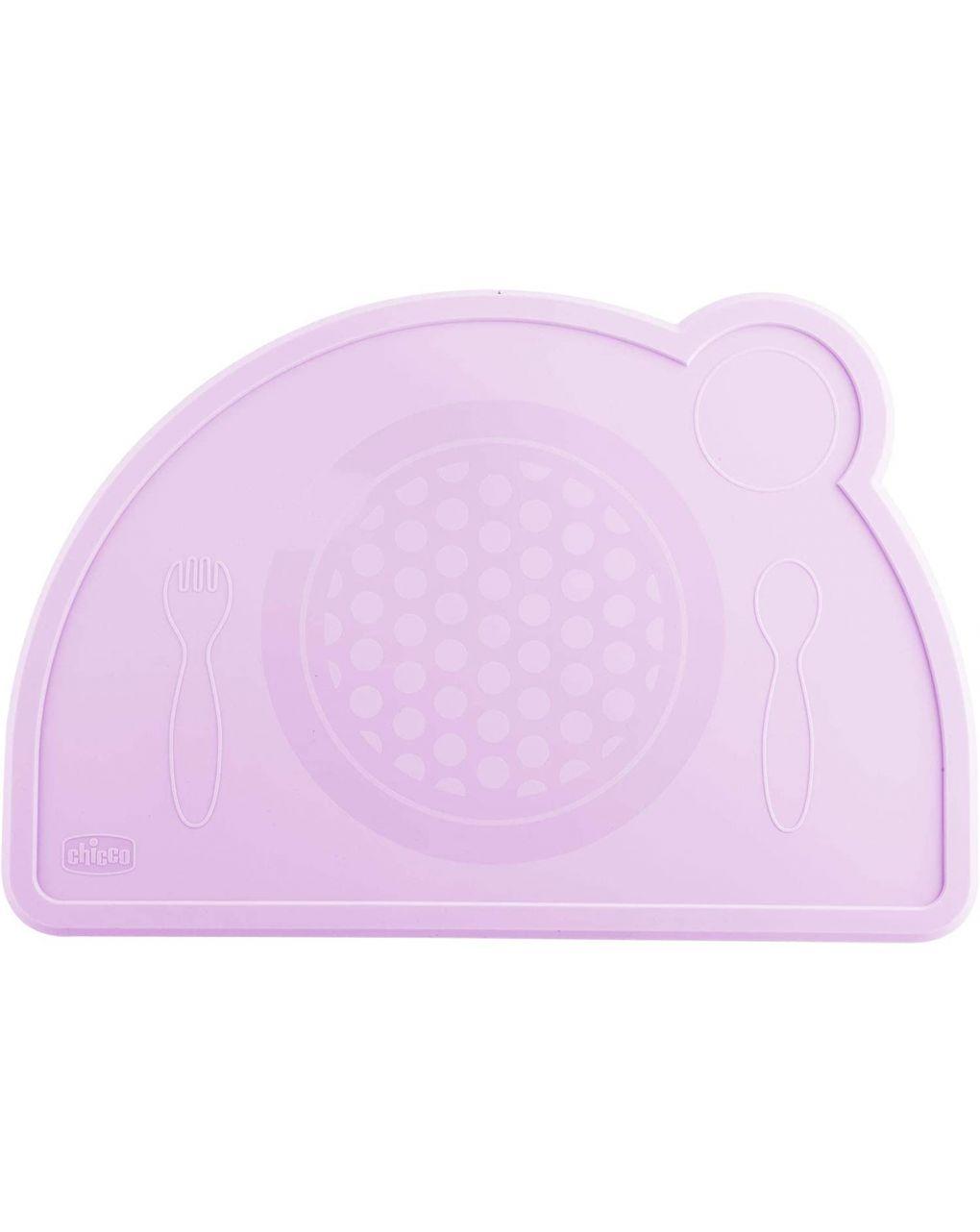 Tovaglietta silicone rosa - Chicco