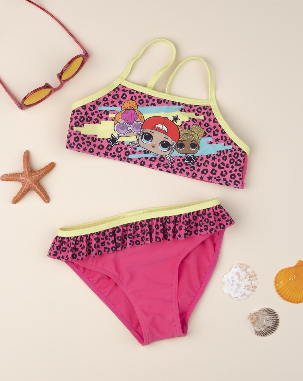 "Bikini maculato rosa shocking ""lol"" - Prénatal"