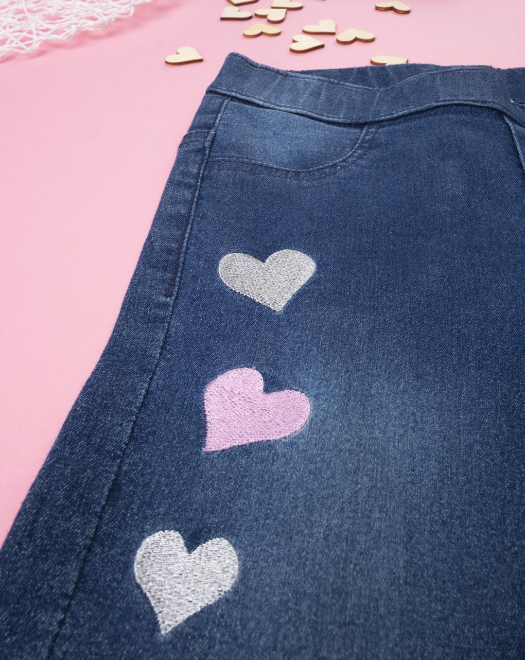 "Jeans girl  ""cuori"" - Prénatal"