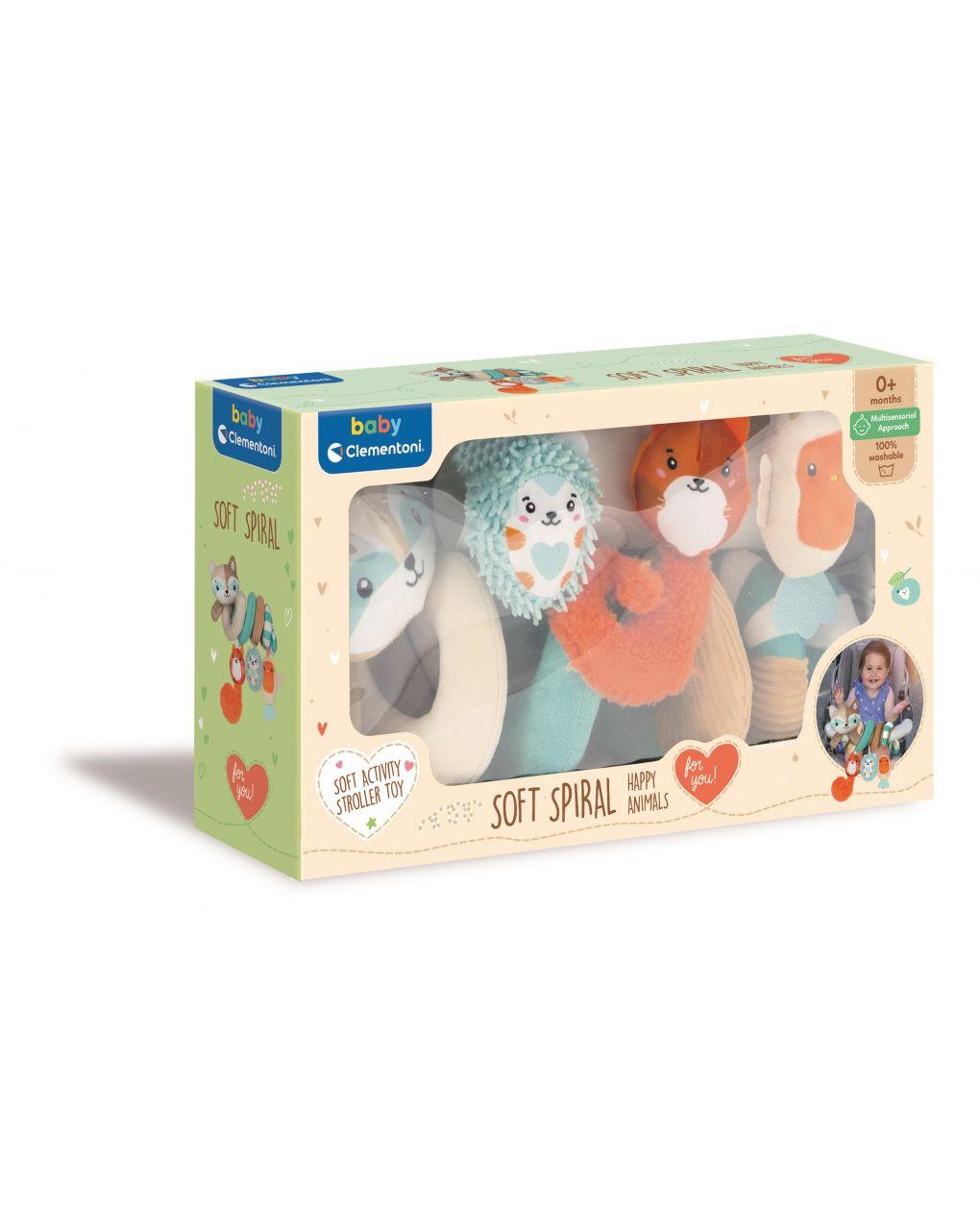 Baby clementoni - soft spiral happy animals - Clementoni