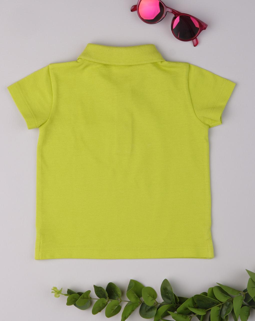 Polo bimbo tinta unita yellow - Prénatal