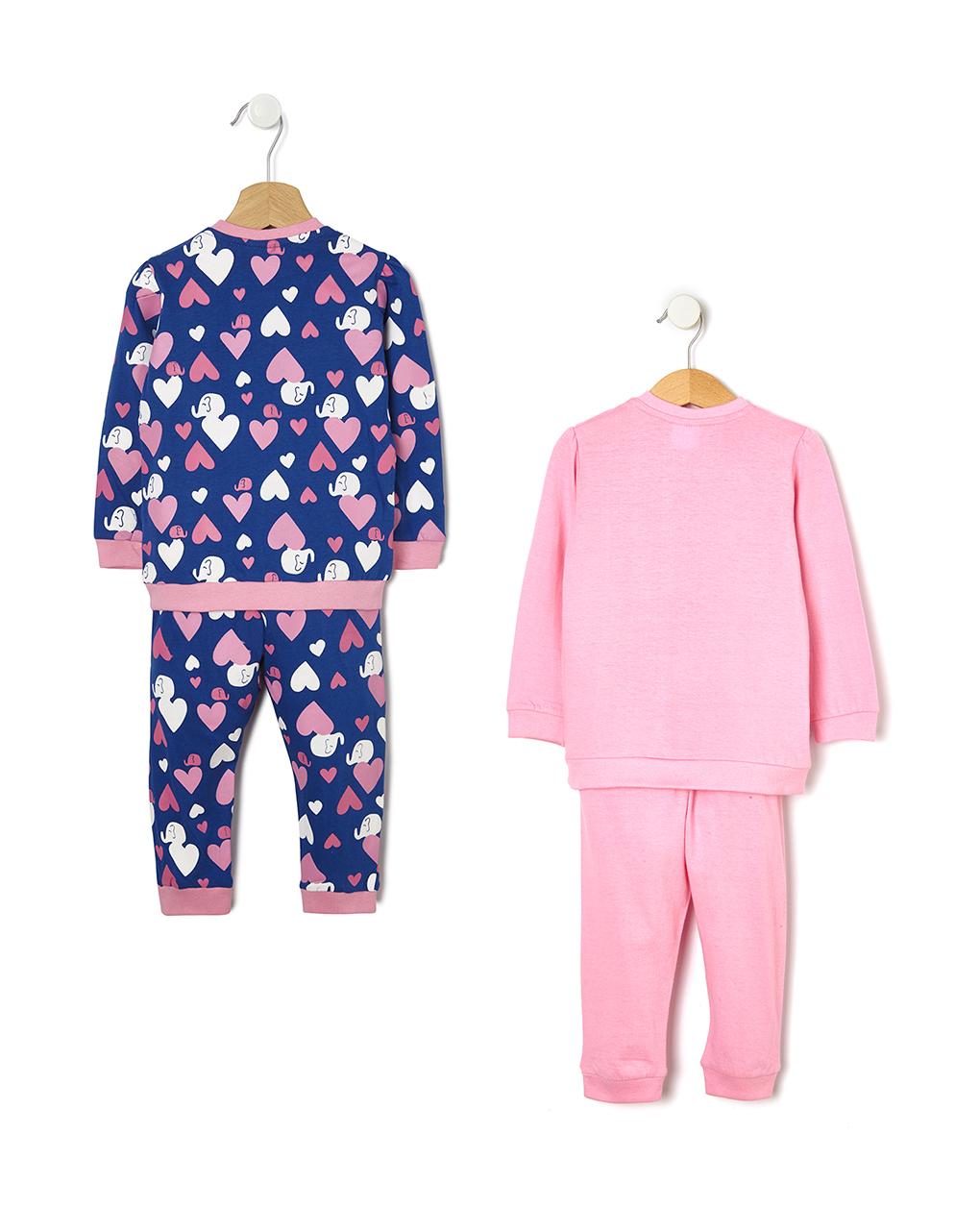 Pack 2 pigiami stampa cuore - Prénatal