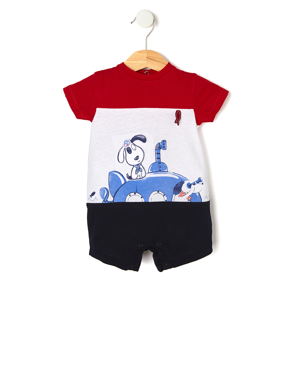 Tutina in jersey con stampa cane marinaio - Prénatal