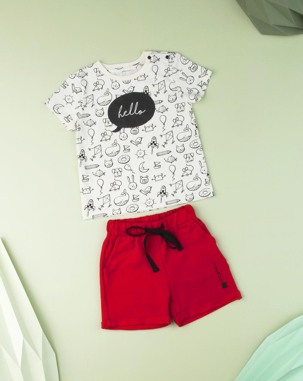 "T-shirt baby boy ""hello"" - Prénatal"