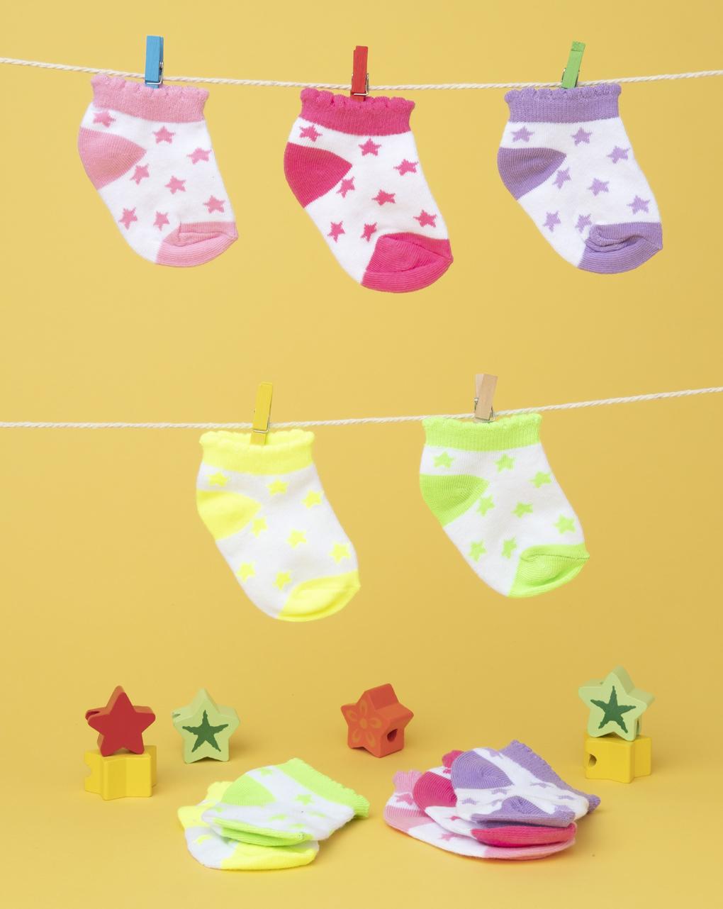 Pack 5 calze baby multicolor - Prénatal