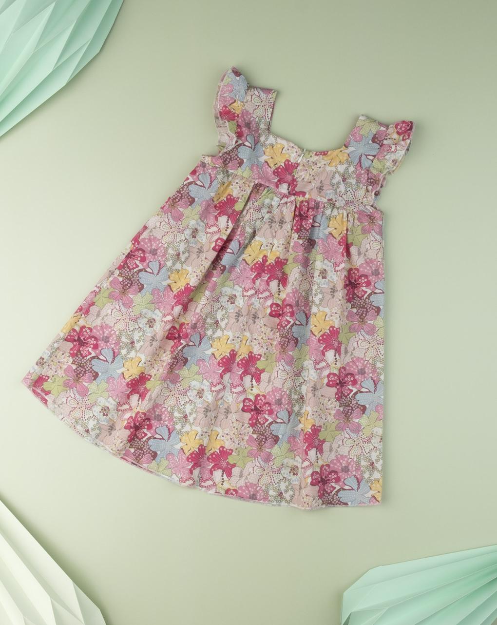 "Vestito kid girl ""sweet flower"" in tessuto liberty - Prénatal"