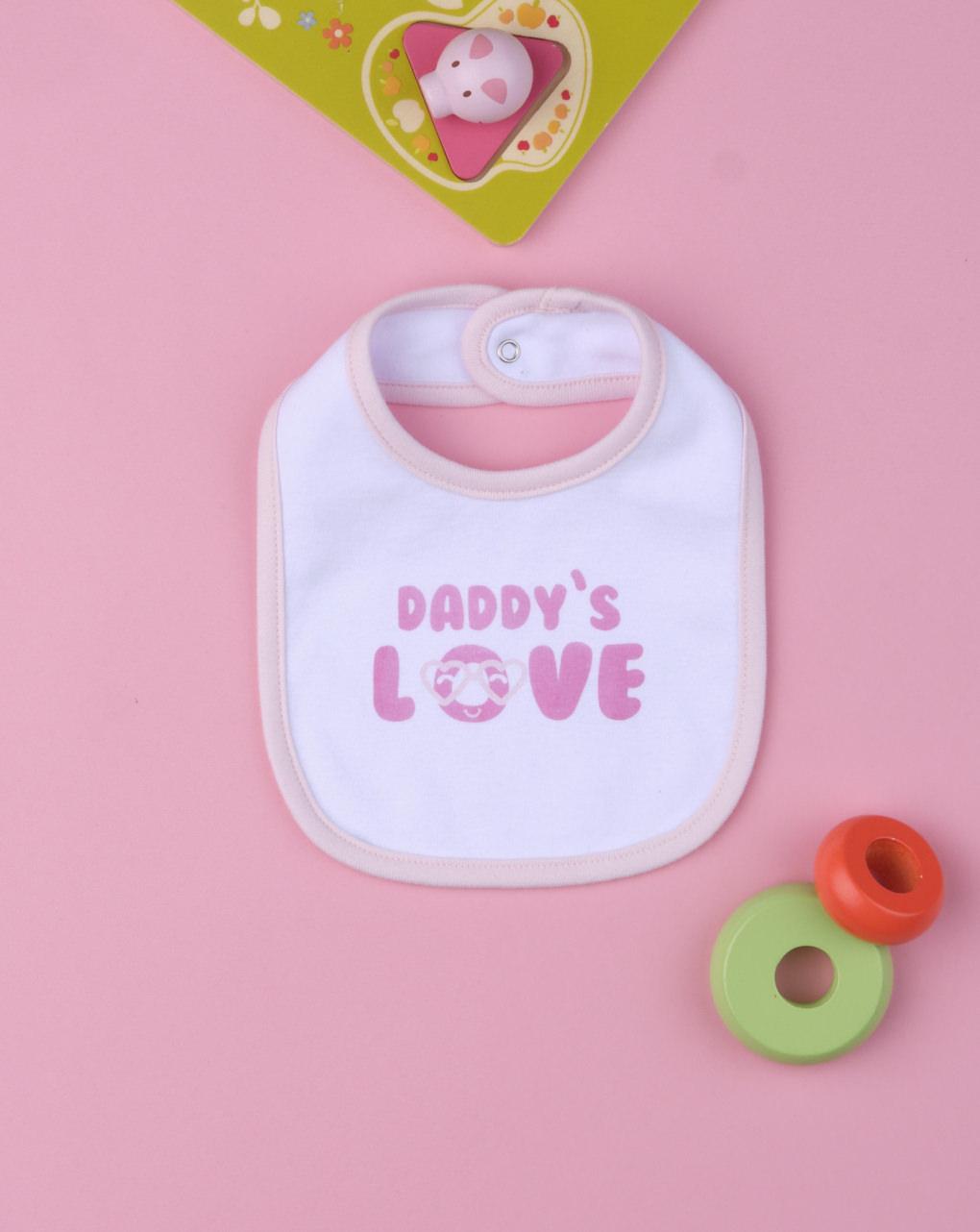 "Bavaglino bimba ""daddy's love"" - Prénatal"