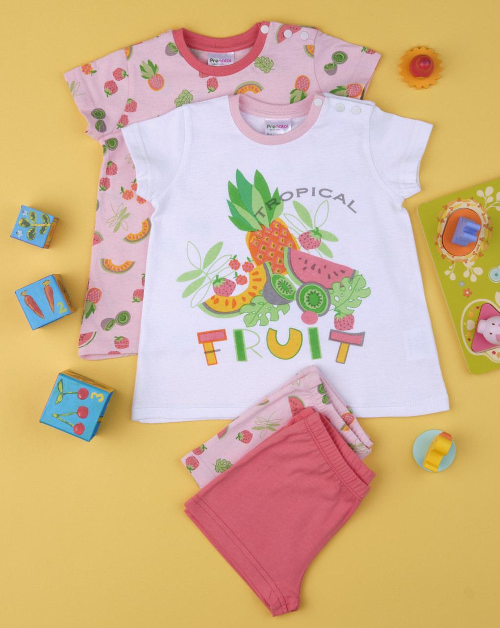 """Pack 2 pigiami bimba """"tropical"""" - Prénatal"""