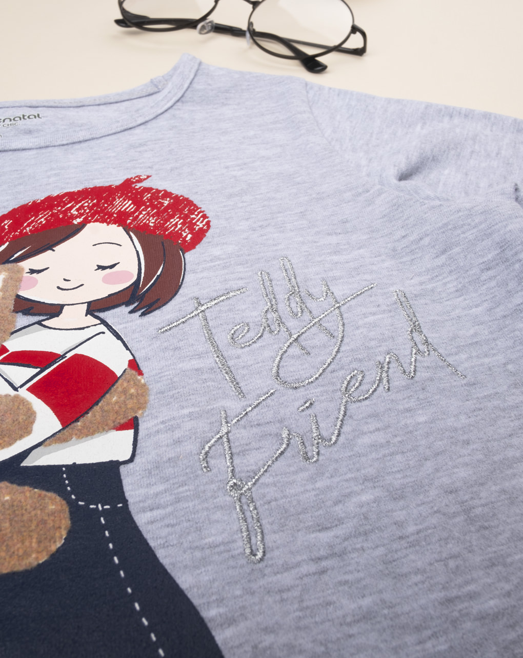 "T-shirt girl ""girl & orsetto"" - Prénatal"
