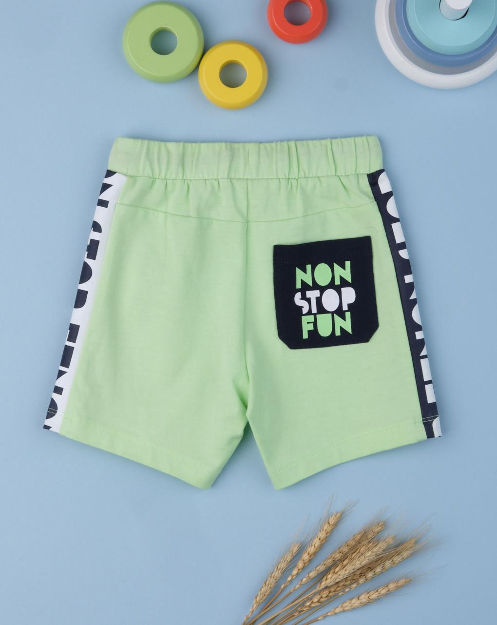"""Shorts boy """"non stop fun"""" - Prénatal"""