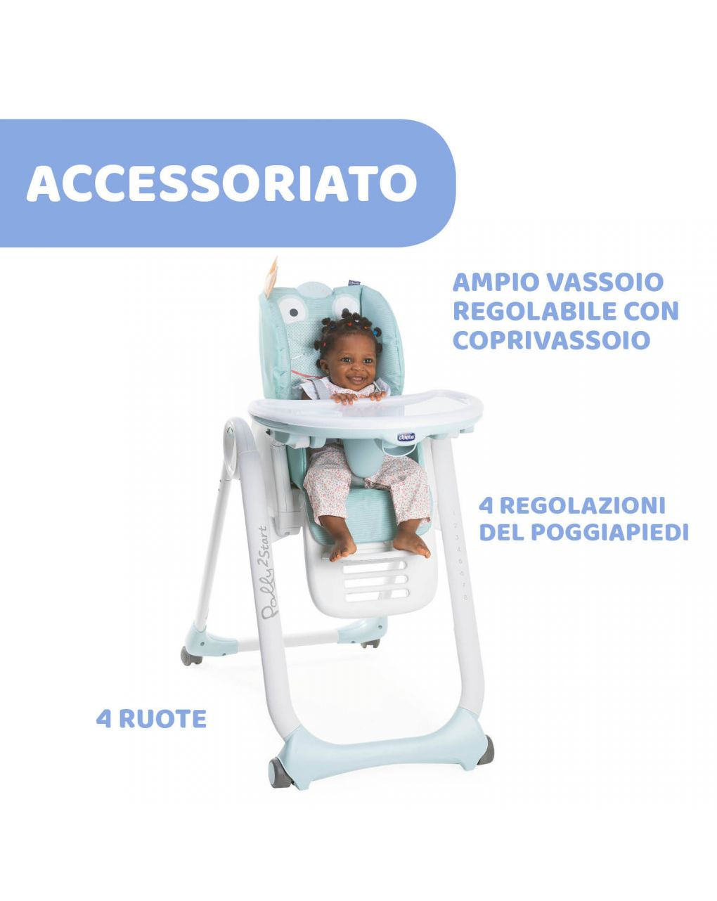 Seggiolone chicco polly2start froggy - Chicco