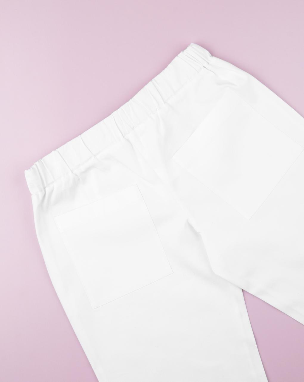 Pantalone gamba larga white - Prénatal