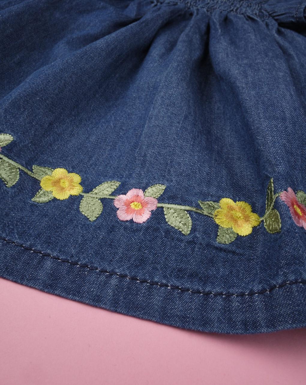 Camicia chambray bimba con fiorellini - Prénatal