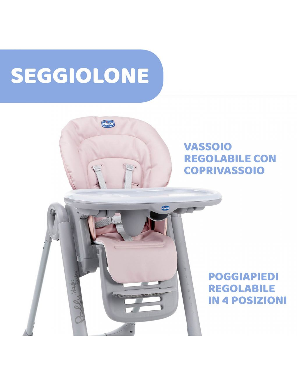 Seggiolone chicco polly magic paradise pink - Chicco