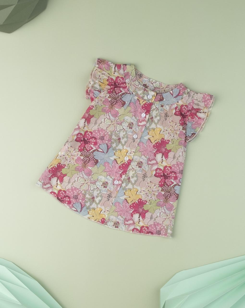 "Camicia baby girl ""sweet flower"" in tessuto liberty - Prénatal"