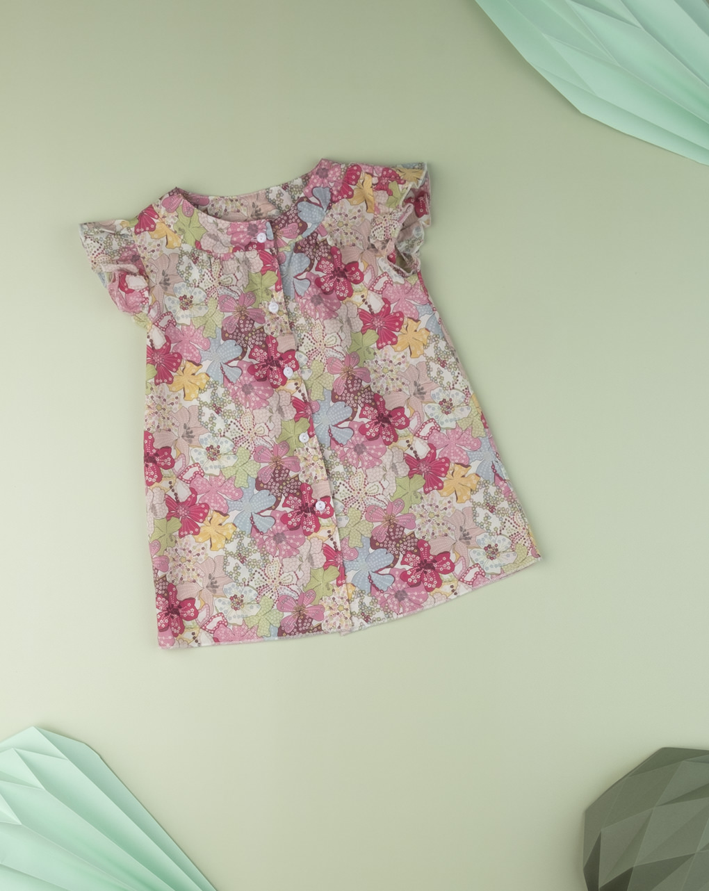 "Camicia kid girl ""sweet flower"" in tessuto liberty - Prénatal"