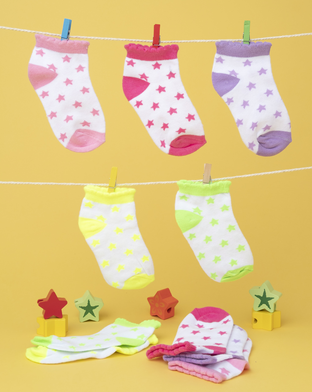 Pack 5 calze girl multicolor - Prénatal