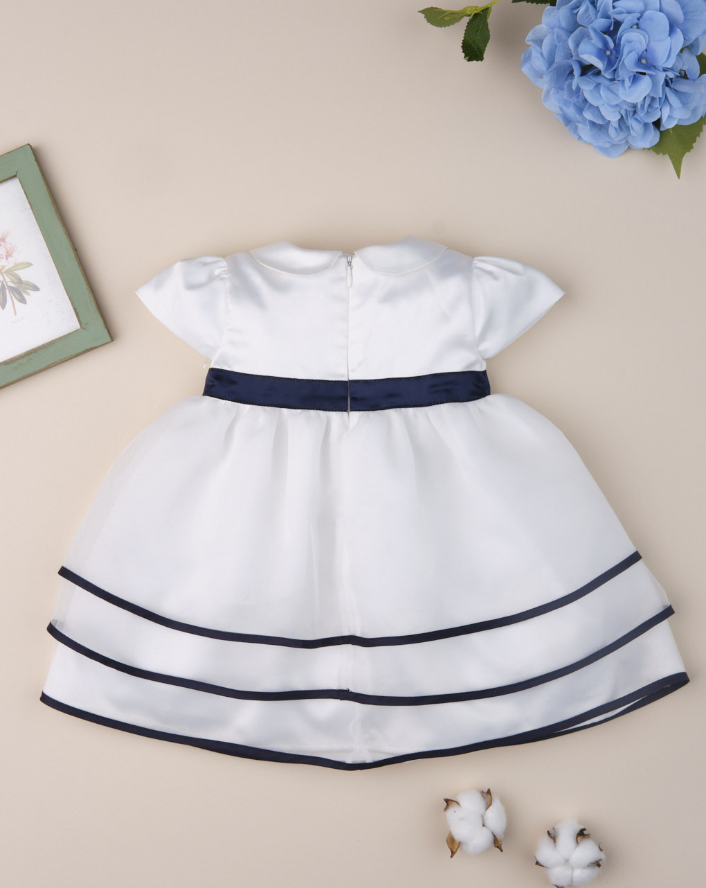 "Abito da cerimonia bimba ""blue & white"" - Prénatal"