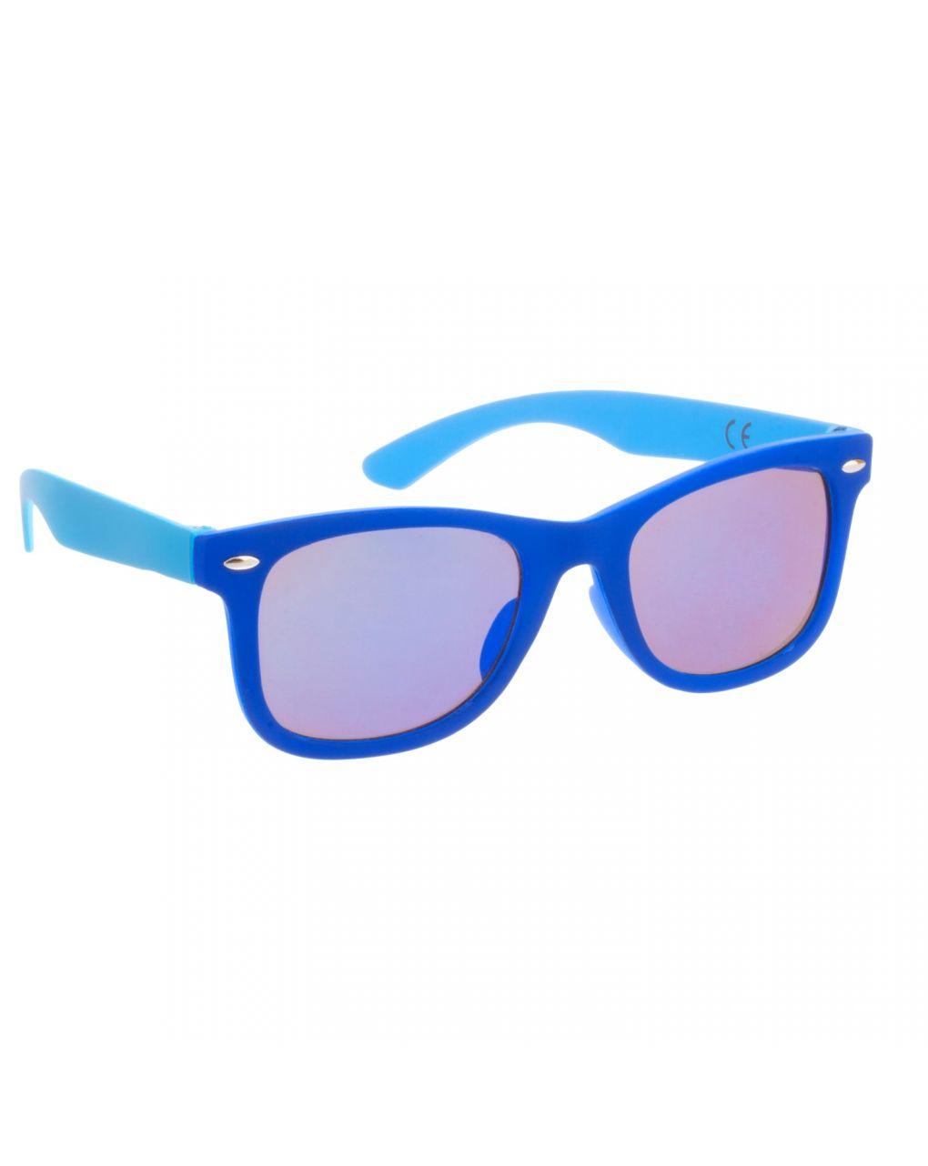 Occhiali da sole blu azzurro con lenti a specchio - Monkey Monkey