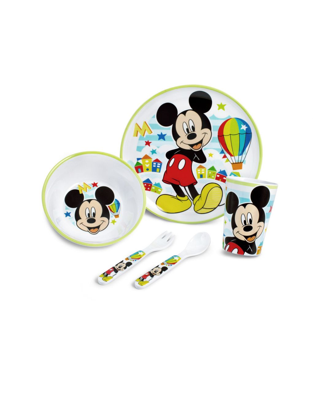 Set 5 pezzi mickey simply - Lulabi Disney