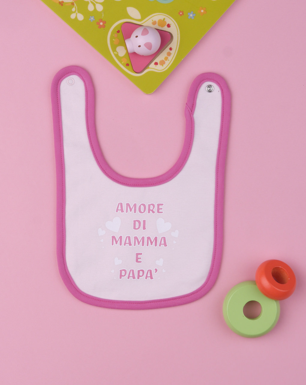 "Bavaglino bimba ""amore di mamma e papà"" - Prénatal"