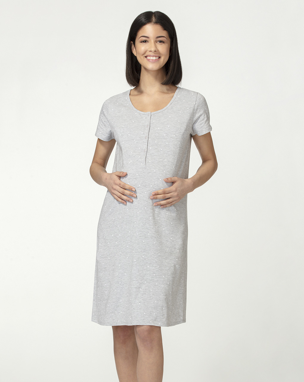 Camicia allattamento grigia - Prénatal
