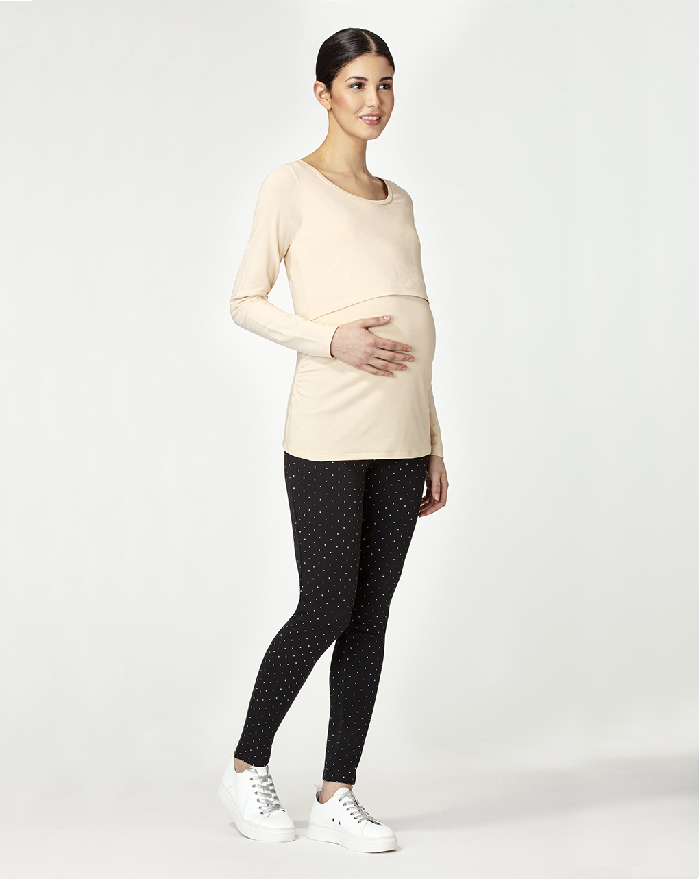 T-shirt allattamento beige - Prénatal
