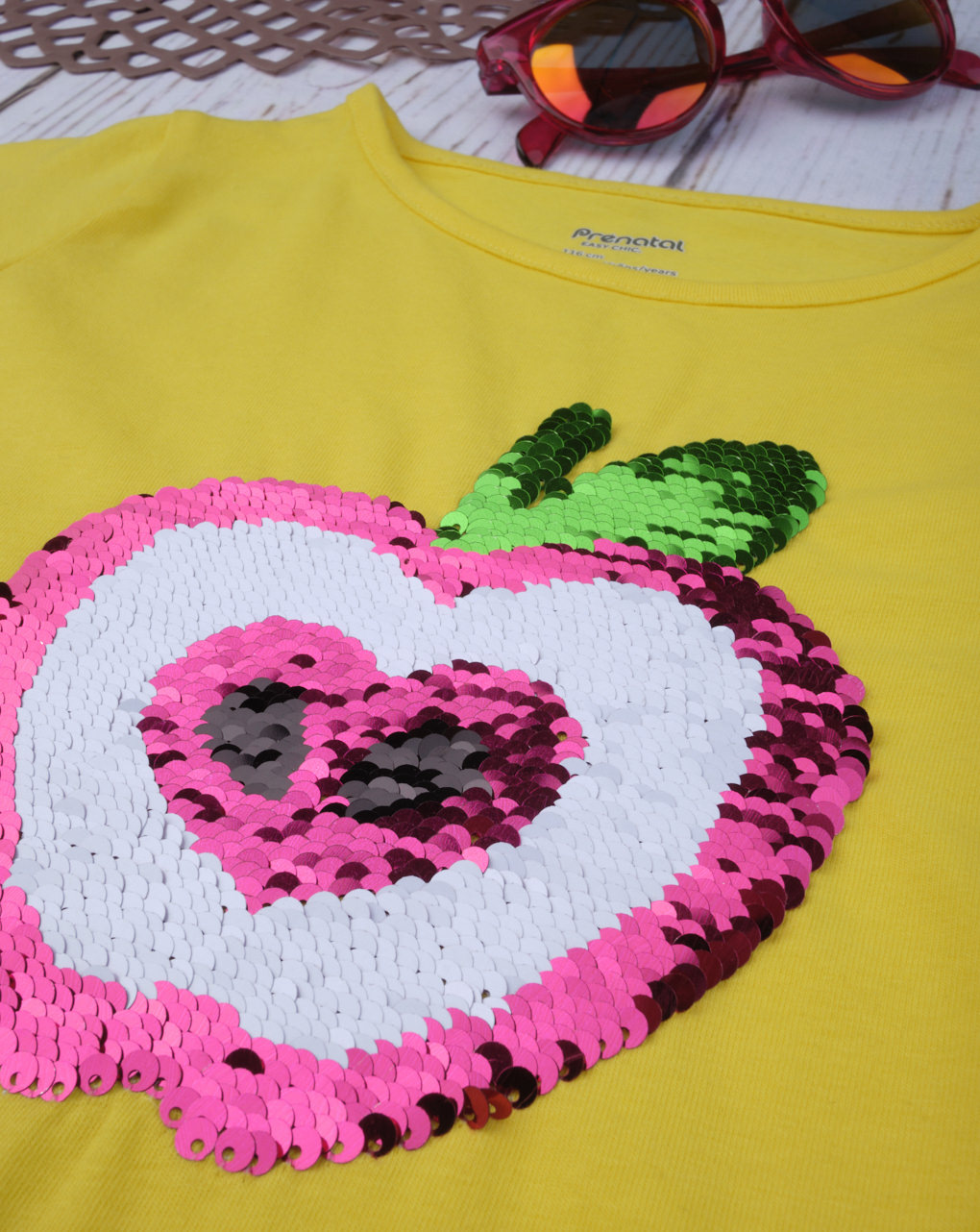 "T-shirt paillettes reversibili ""apple"" - Prénatal"