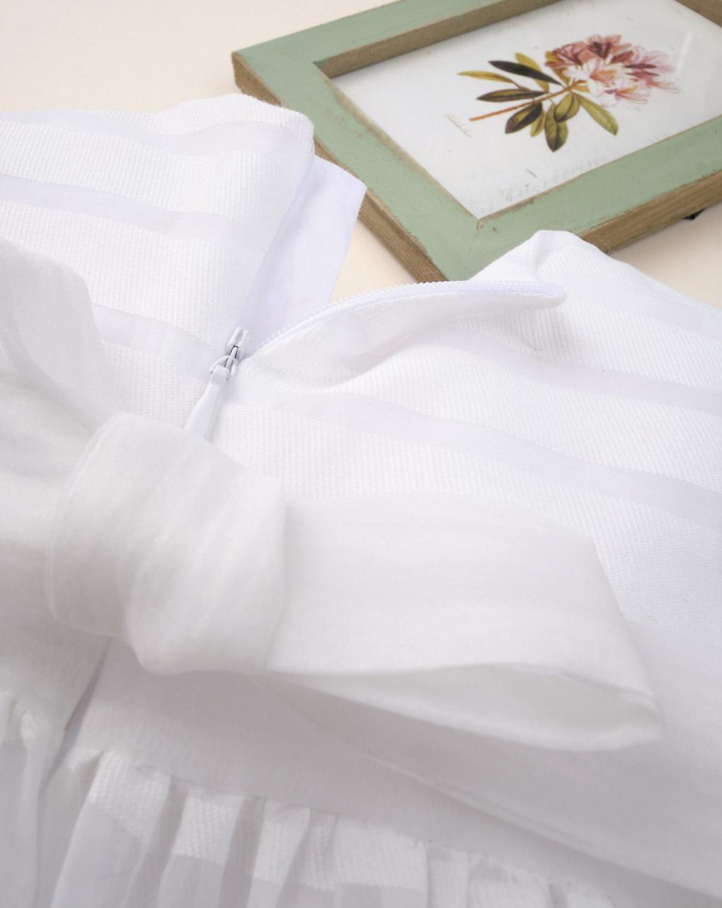 "Abito da cerimonia bimba ""striato bianco"" - Prénatal"