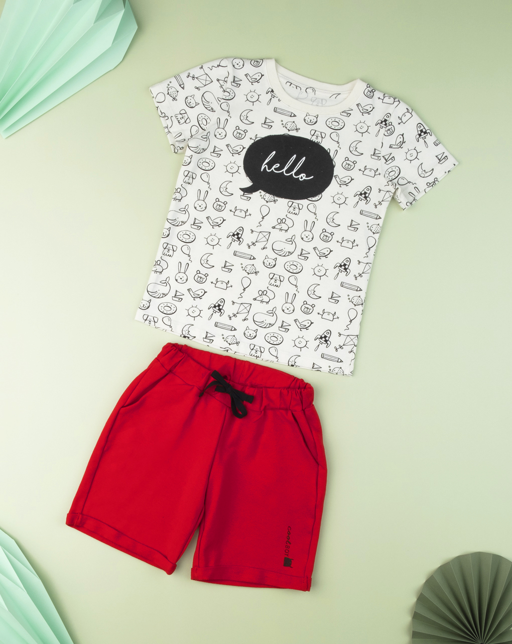 "T-shirt kid boy ""hello"" - Prénatal"