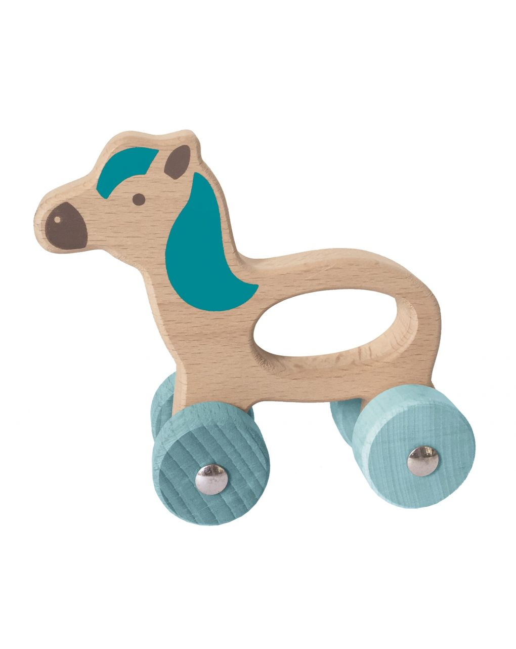 Wood n play - animali in legno con ruote - Wood'N'Play