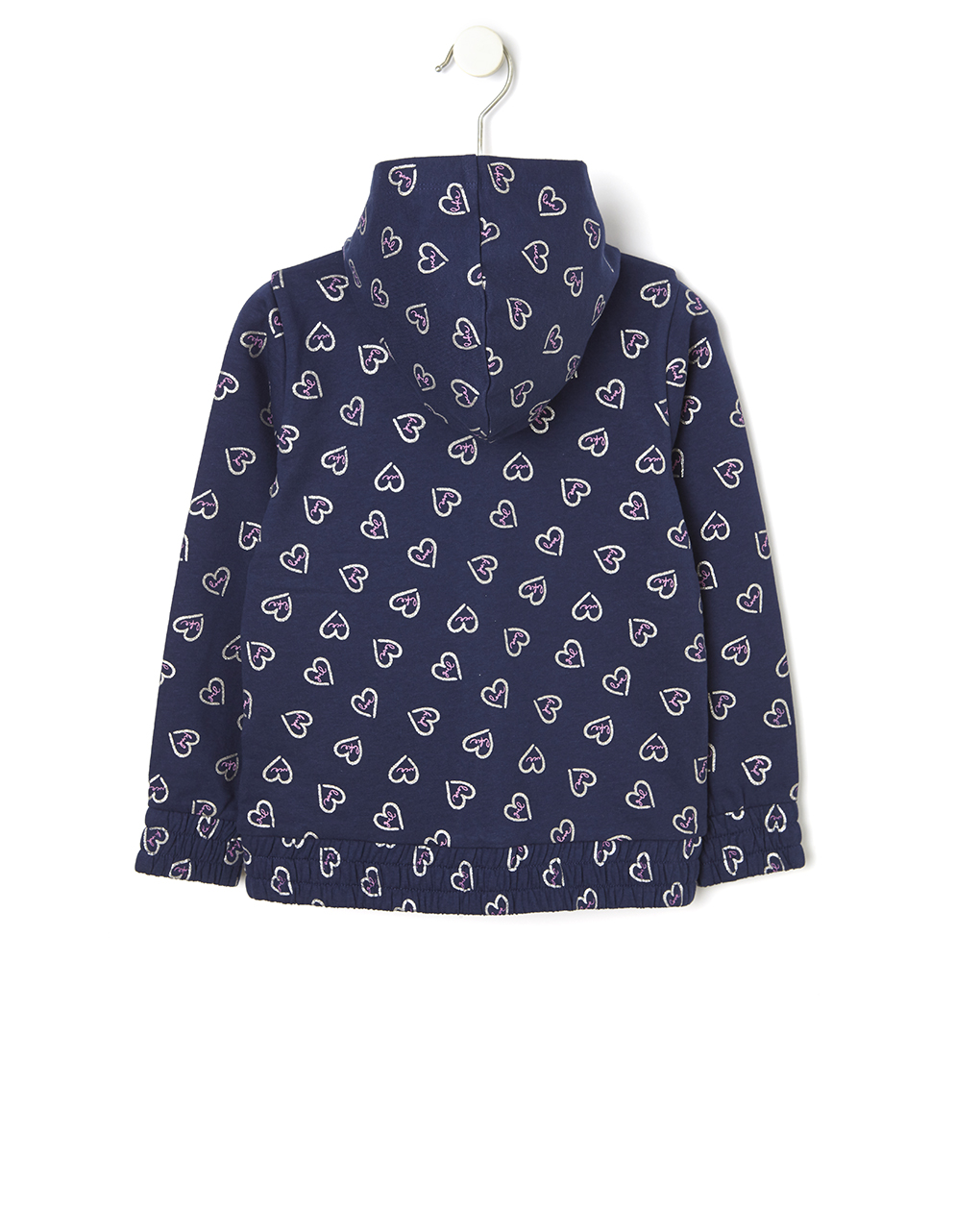 Cardigan in felpa con cappuccio e stampa allover - Prénatal