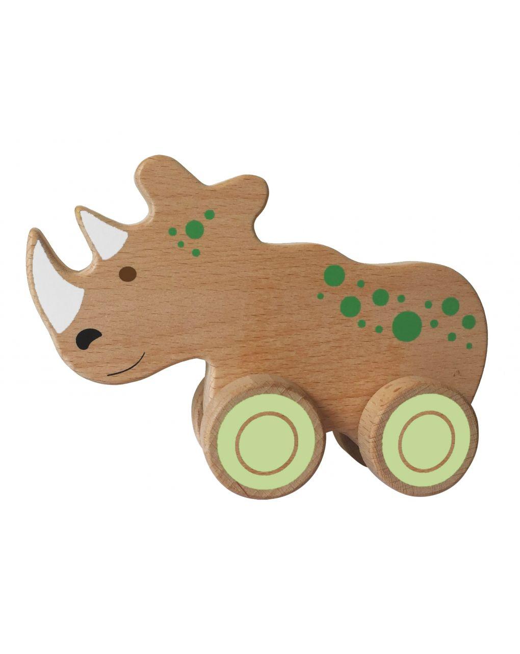 Wood n play - animali in legno con ruote - Wood'N'Play